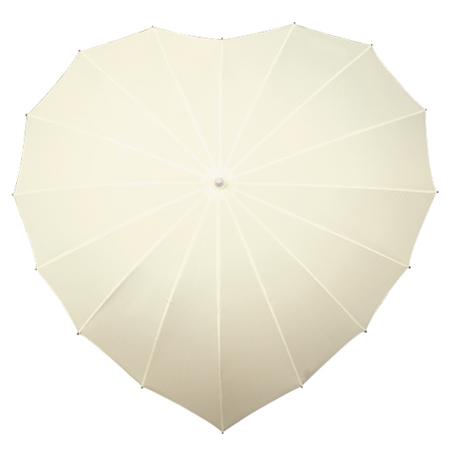 wholesale_ivory_heart_umbrella