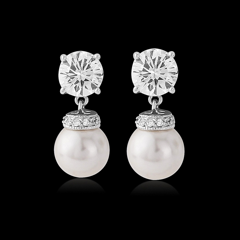 PEARL DROP EARRING BLACK