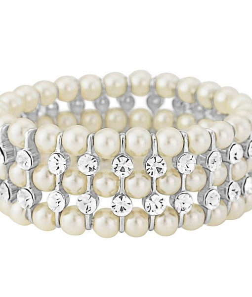 PEARL STRETCH BRACELET WHITE