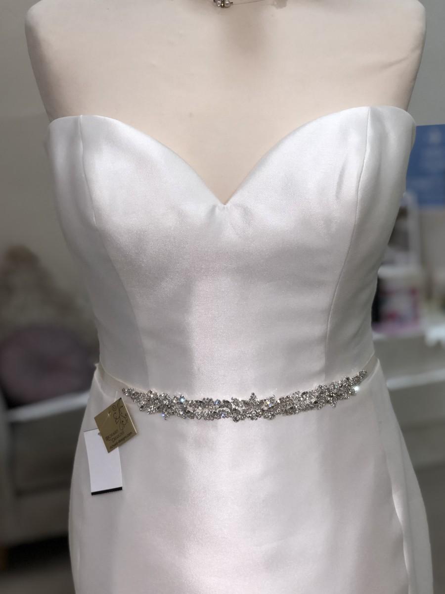 Wedding Dress Belts.Diamonte Slim Crystal Wedding Dress Belt The Bridal Box
